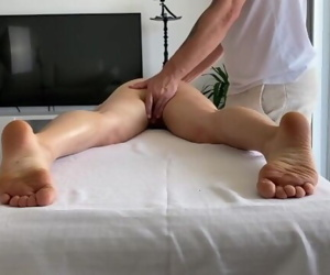 Massage therapist hard..